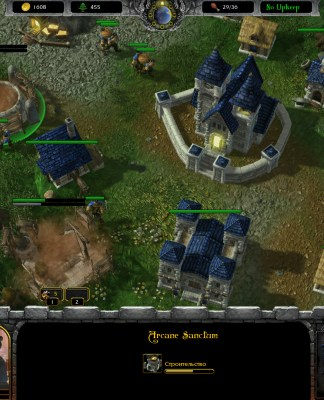 Screenshot from Armies of azeroth Starcraft 2 mod