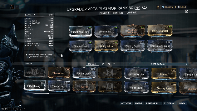 Upgrades Arca Plasmor Rank 30