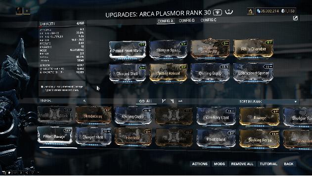 Upgrades Arca Plasmor Rank 30