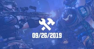 Borderlands 3 Patch 26 SEP 2019