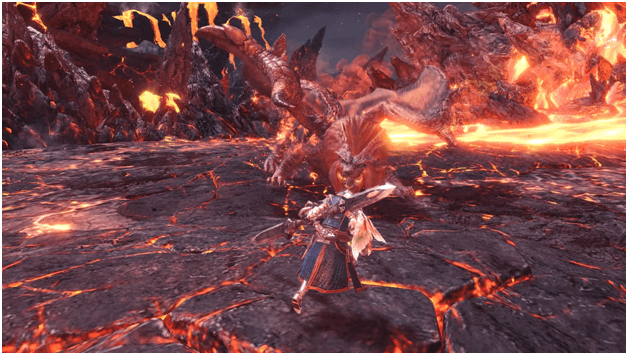Teostra the Infernal mhw main quest