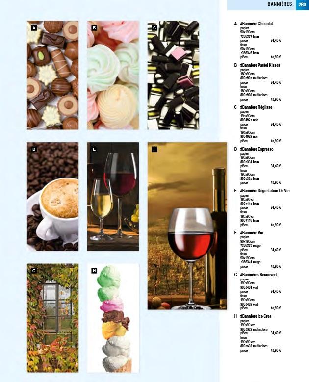 Pro-G Créa - Déco bandeau chocolat ou bannière chocolat - déco bannière ou bandeau réglisse - déco bandeau ou bannière vins - déco bandeau ou bannière café - déco bandeau ou bannière glace
