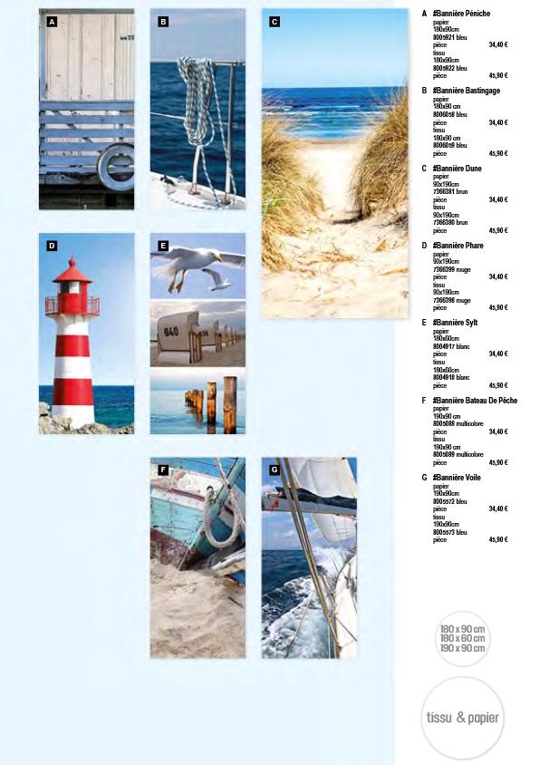 Pro-G Créa - Déco bandeau ou bannière phare - bandeau ou bannière plage - déco bannière ou bandeau bateau - déco bandeau ou bannière mer - déco bandeau ou bannière goéland mouettes - déco bandeau ou bannière marin