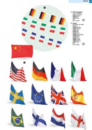 Déco supporter drapeaux