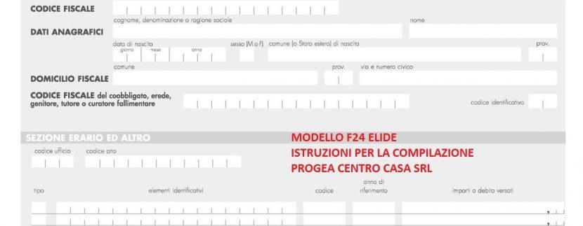 Guida Alla Compilazione Del Modello F24 Elide Per I