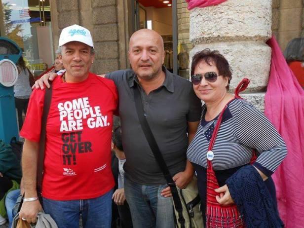 Gianni a verona with Flavio (Presiente arci) Dolores , HIgh menber of AGedo Milano (1)