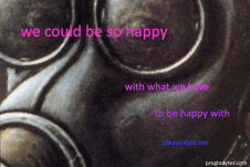 happy with what we have