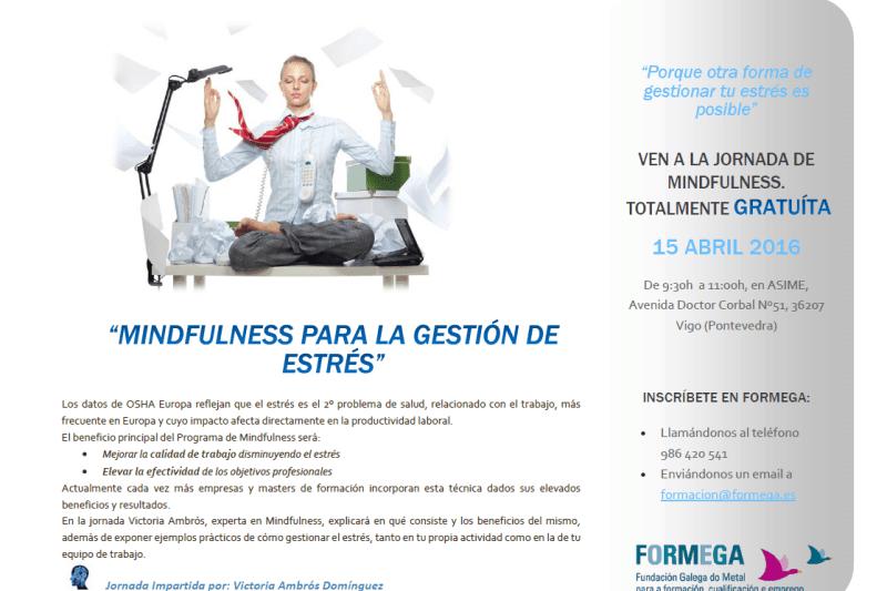 cartel sobre MINDFULNESS en FORMEGA-15 Abril