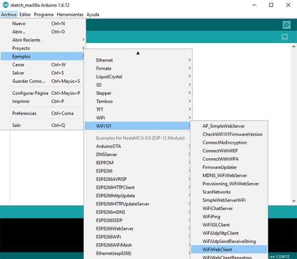 wifiwebclient ejemplo arduino