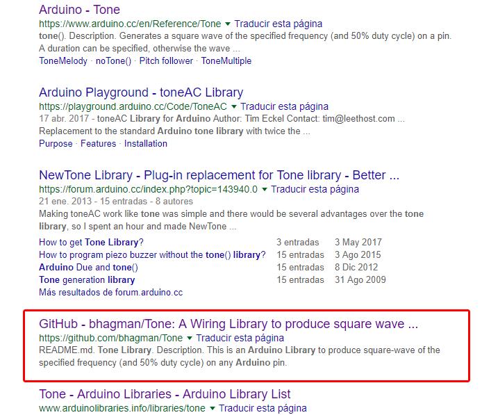 búsqueda librería tone