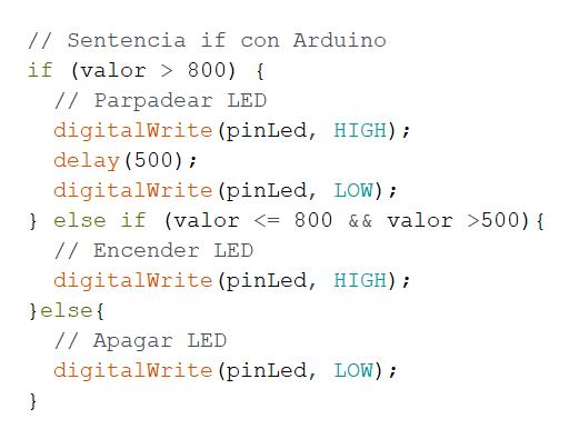 else if arduino