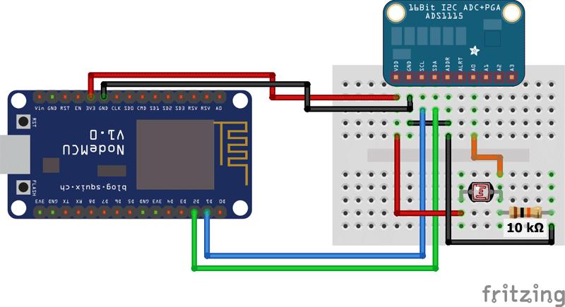 ads1115 NodeMCU ESP8266