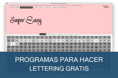 Programas para hacer Lettering Gratis