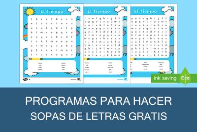 Programas para hacer Sopa de Letras y Crucigramas Gratis
