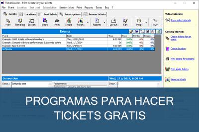 Programas para hacer Tickets Gratis