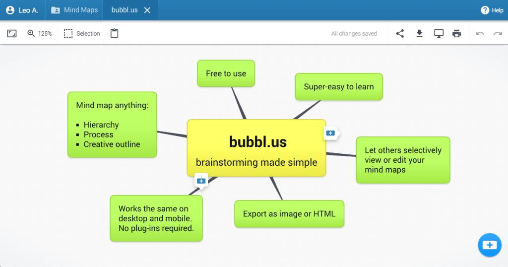 pantalla principal de Bubbl