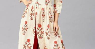 Front cut kurti with pallazo pants