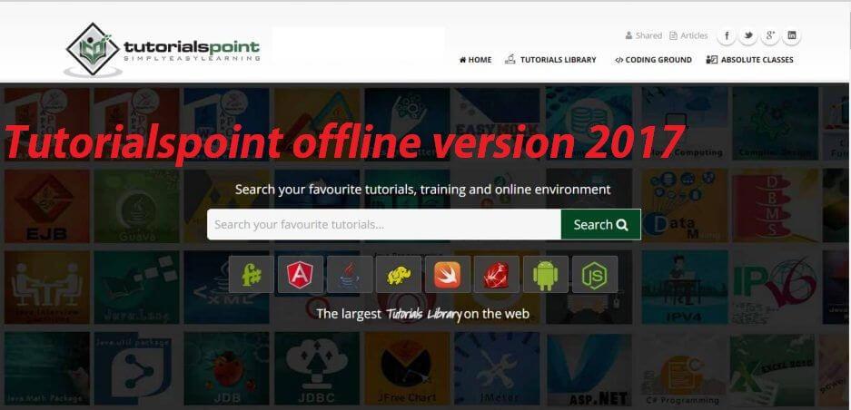 ✅ {Updated}Tutorialspoint offline Latest  Zip version free download