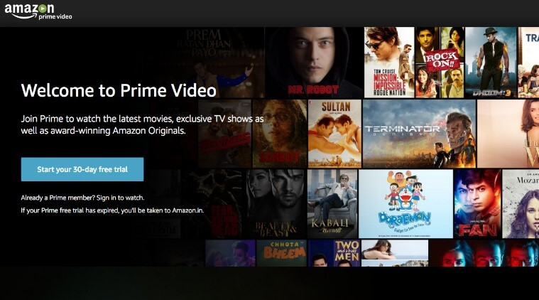 22. Amazon Prime Video