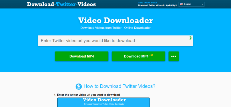 7. Twitter Video Downloader
