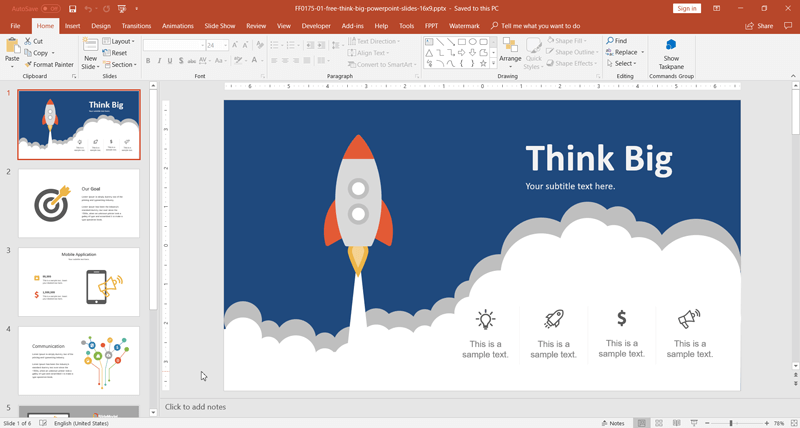 free-think-big-powerpoint-template-slidemodel