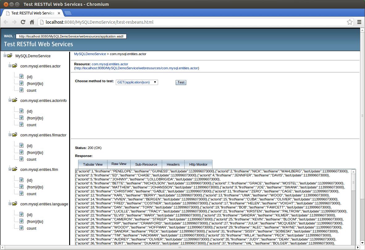 Java Restful Web Services Using Mysql Server Eclipselink And Jersey