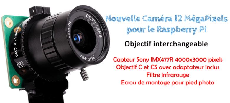 Caméra avec objectif