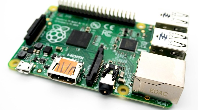 This picture shows a Raspberry Pi 2B. It is a single board Computer and costs around 40€.