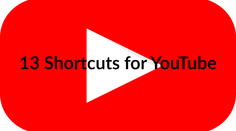 13 Shortcuts for YouTube. With this you can use YouTube with the Keyboard only.