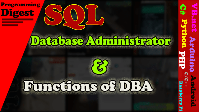 Dba (Database Administrator)