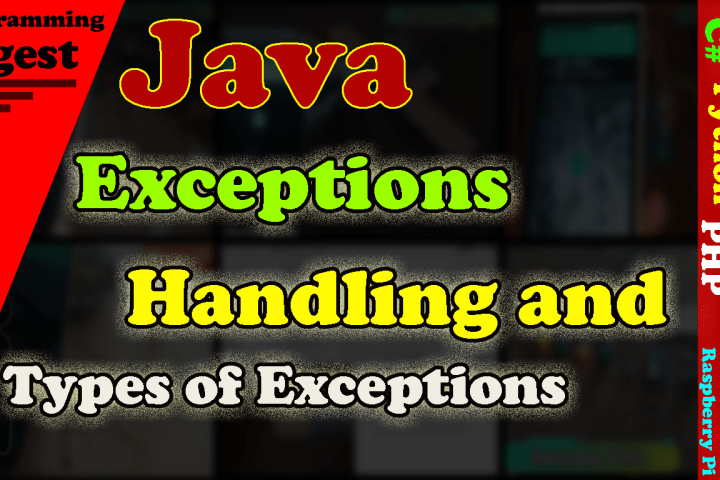 Exceptions handling in java