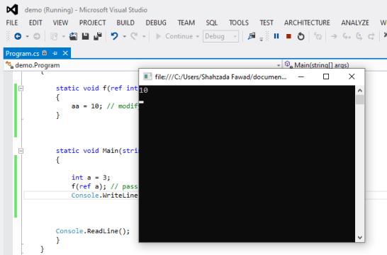 C# parameter
