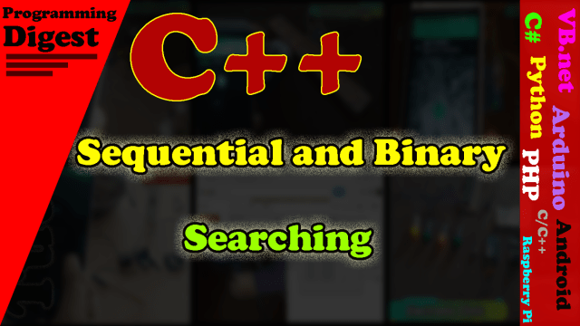 Searching in C++