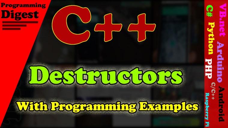 C++ Destructor