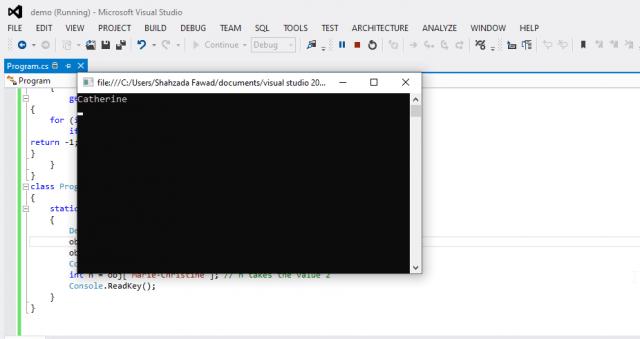 C# indexer