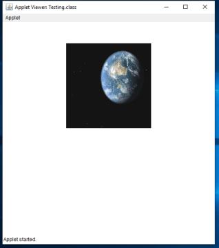 displaying image in java applet
