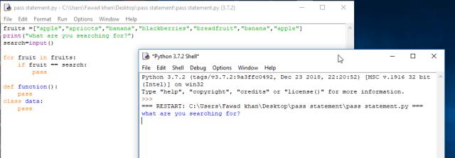 pass statement in python