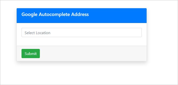 Google Autocomplete Address View