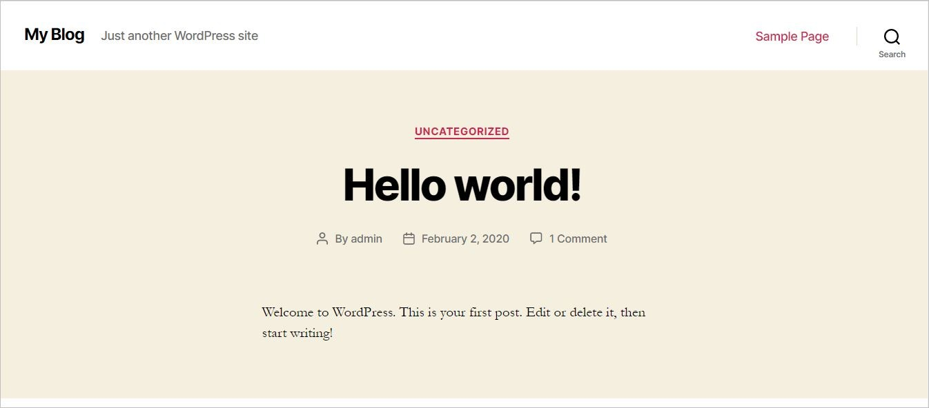 WordPress Default Theme