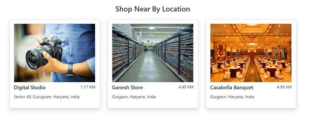 Shop Near By Location