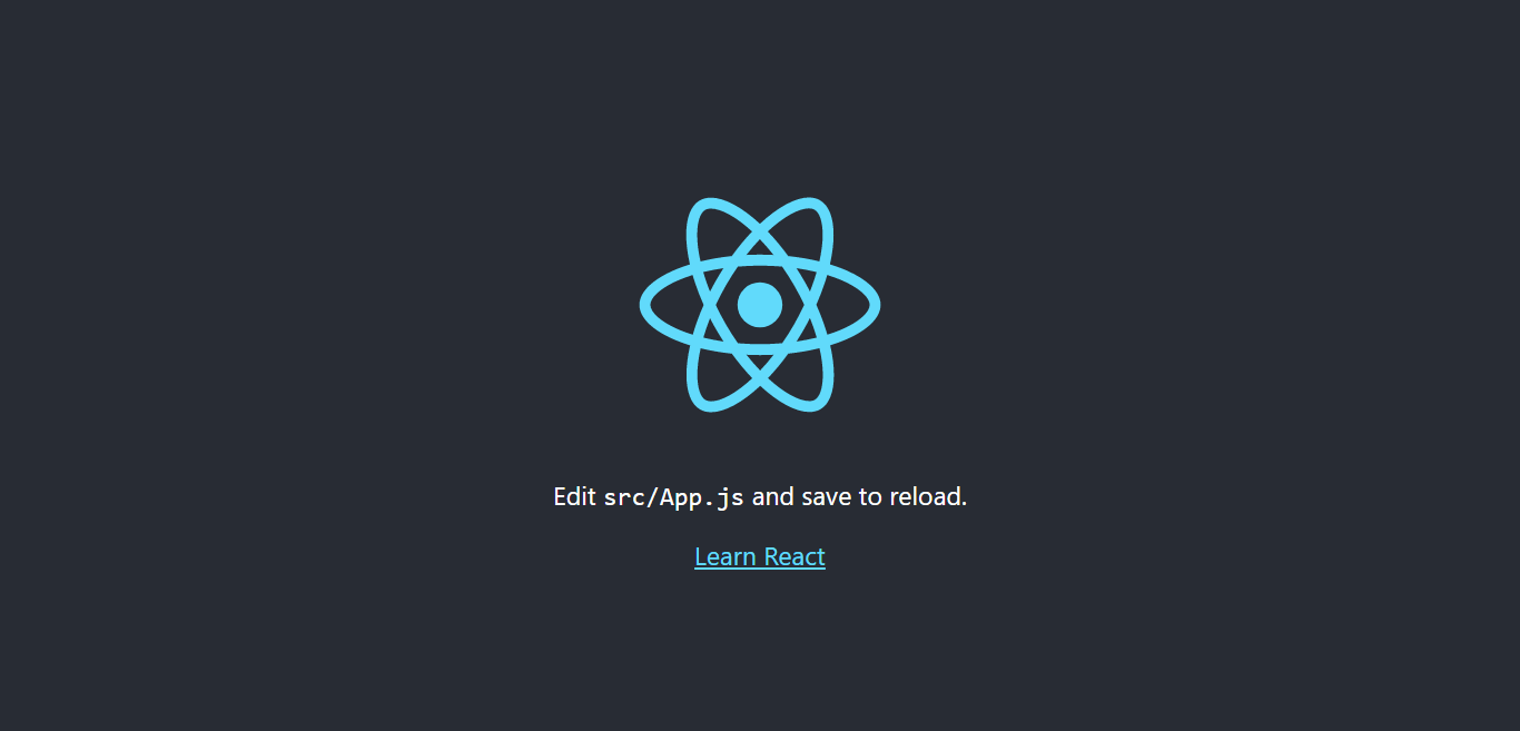 React Js Homepage - install and create react js app