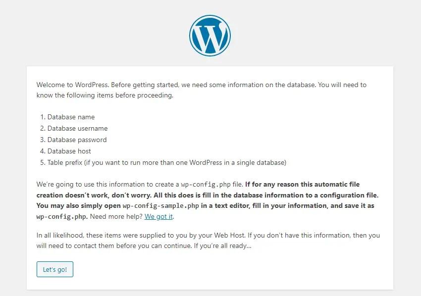 Configure Database in WordPress