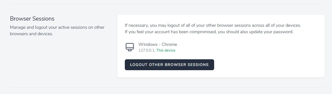 Browser sessions