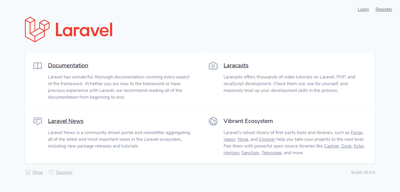 Laravel 8 Homepage with Auth