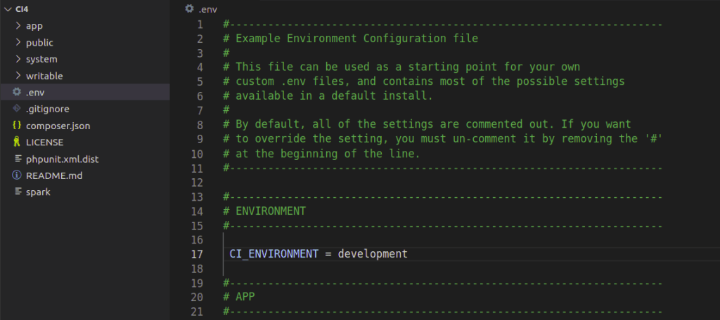 ..env file after renaming