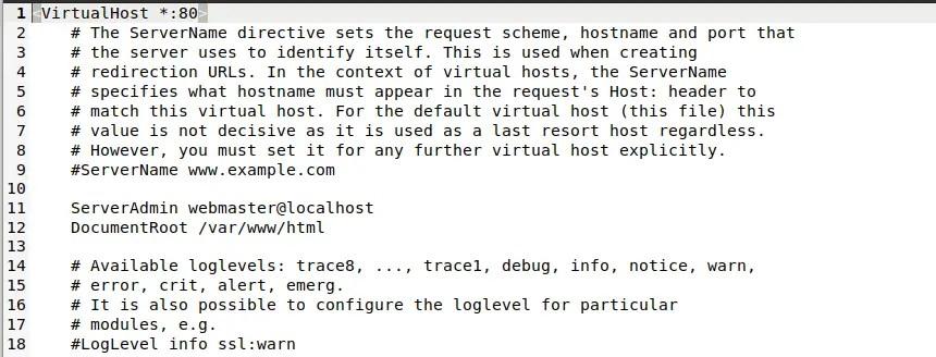 Default Settings in Virtual domain