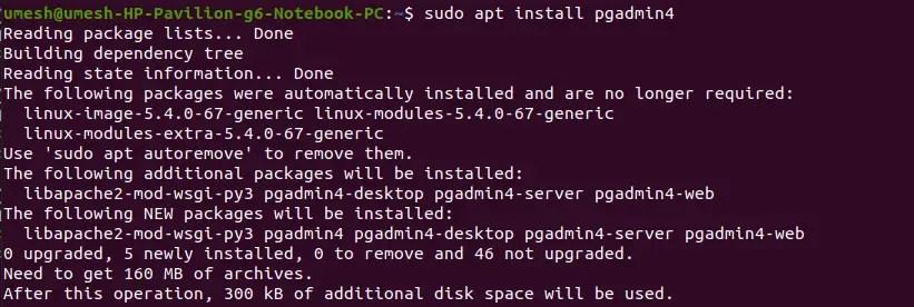 Install pgAdmin 4