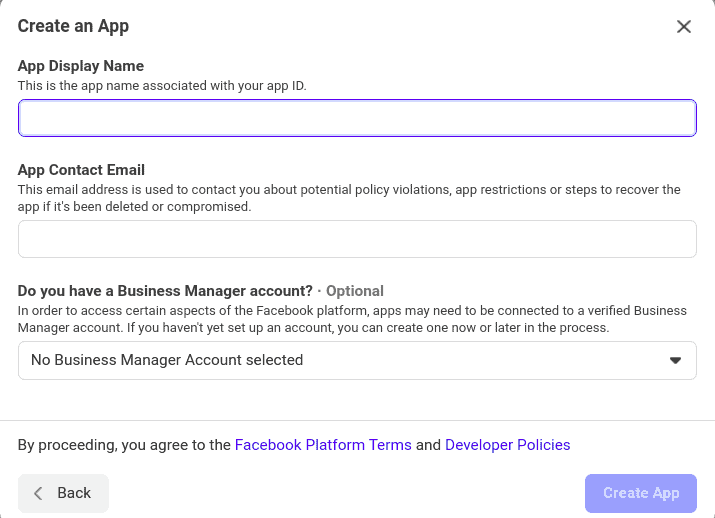 Facebook App Detail