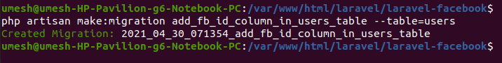 Add column in users table