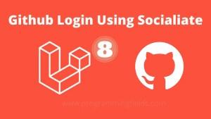 Github Login Using socialite